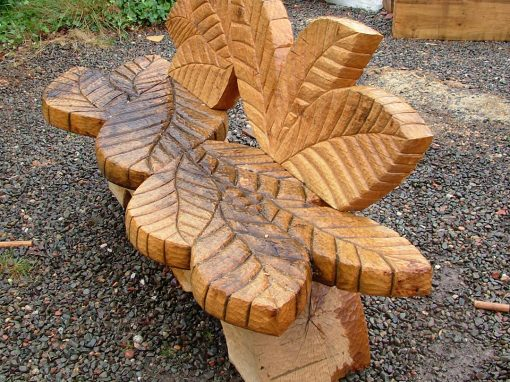 Green oak benches – out and about