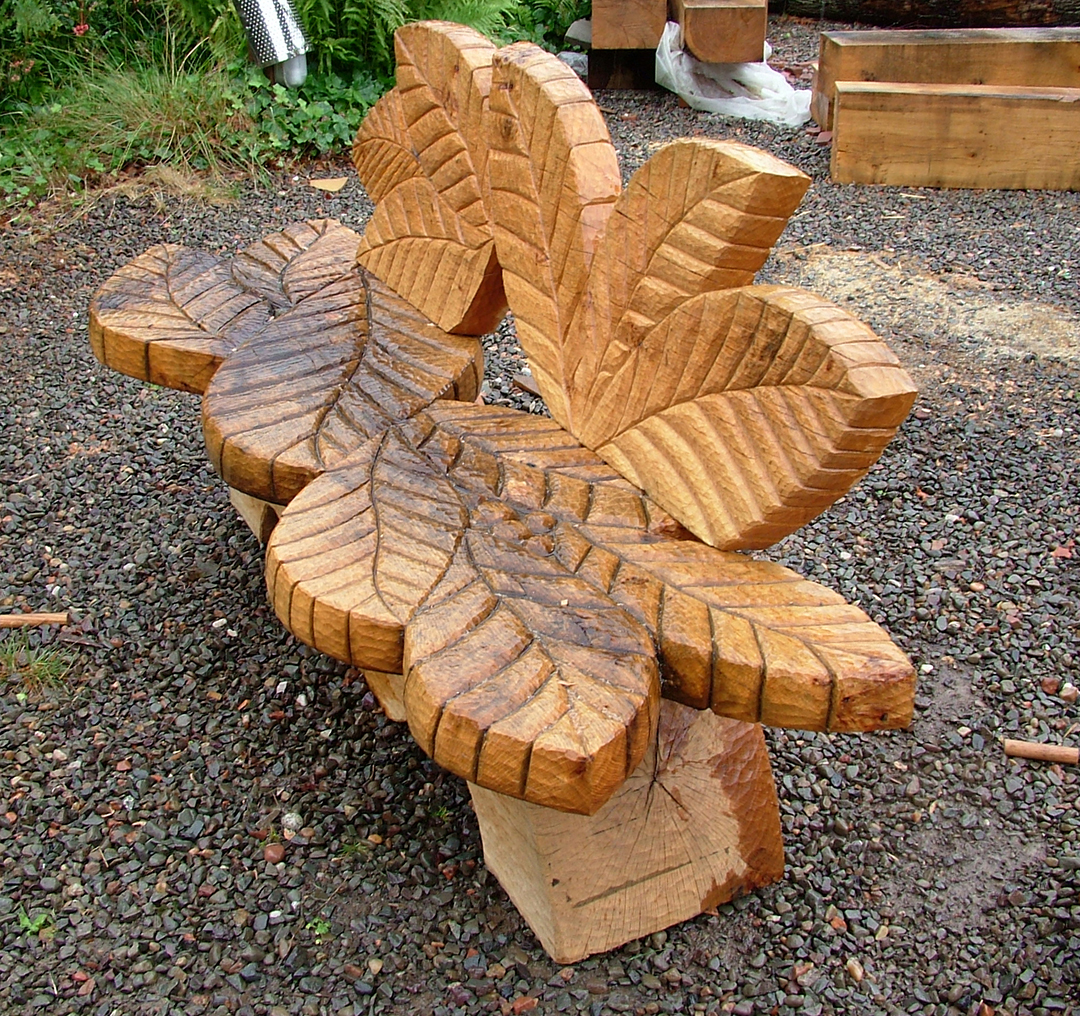 Susheila Jamieson, Wood Carving, Leaf Seat