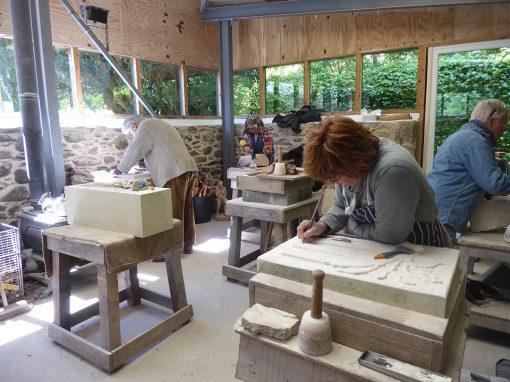 Stone Carving – home studio