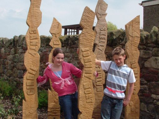 Green oak totems – out and about
