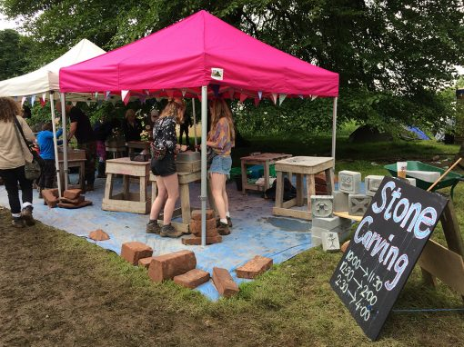 Stone carving – out and about