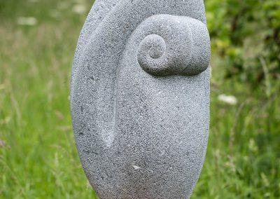 Susheila Jamieson, Tentative, Kilkenny limestone, 950 x 550 x 450mm.