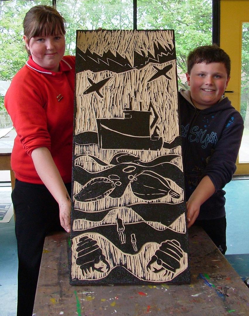 Jamieson and Gordon, printmaking workshop